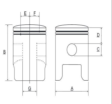 Piston Prox Suzuki RM 125 04-11, 54.00 mm
