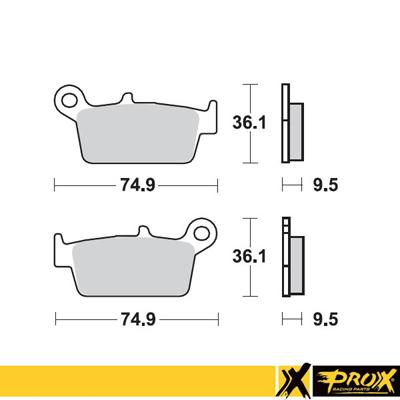 Placute frana Prox spate Kawasaki, Honda, Moto TM, Gas Gas, Yamaha, Suzuki