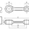 Kit biela KTM EXC 300, 250 1990-2003