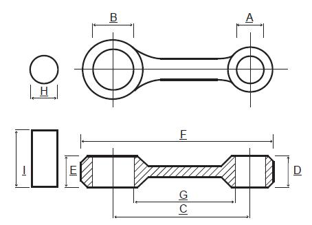Kit biela KTM SX 250, EXC 250, 00-03