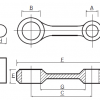 Kit biela Honda CR80, CR85
