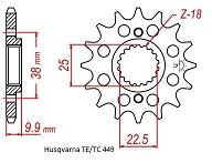Pinion fata otel Husqvarna TC , TE 449