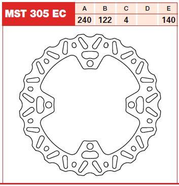 Disc frana spate Suzuki RM-Z 250, RM-Z 450 07-