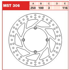 Disc frana fata Kawasaki KX 125, 250, 500 89-02 si KLX 93-03