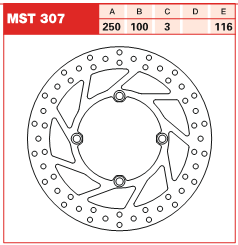 Disc frana fata Kawasaki KX, KX-F 125, 250 03-05
