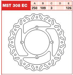 Disc frana fata ProX Kawasaki KX, KX-F 125, 250, 450 06-14