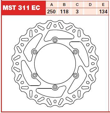 Disc frana fata Suzuki RM125, 250 88-07, DR-Z 400