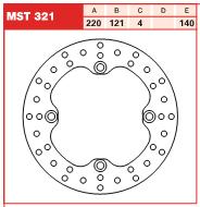 Disc frana spate Honda CR 125 -97, CR 250 -96, CR 500 -01