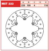 Disc frana spate Kawasaki KX 125, 250, 500 89-02 si KLX 93-03