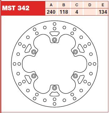 Disc frana spate Suzuki RM 125, 250 99-05