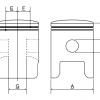 Piston Prox ART Honda CR 250 97-01, Husqvarna CR,WR 250 98-13, Suzuki RM 250 '98