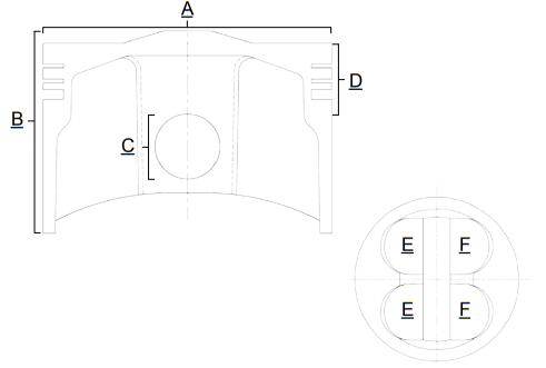 Piston Prox Honda CRF 250 R 16-17 compresie 13.8:1