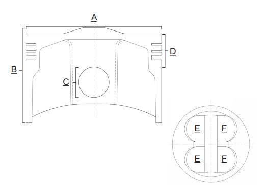 Piston Prox 96.00 mm Honda CRF 450 R 17-18, CRF 450 RX 17-18