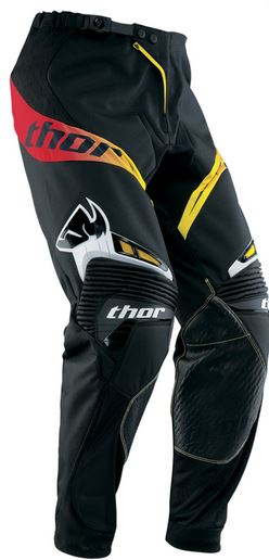 Pantaloni motocross Thor Core Solid Black