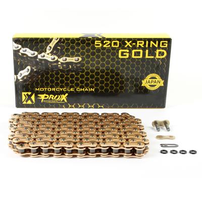 Lant transmisie enduro X-ring Prox 520 auriu